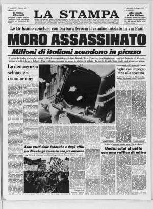 Prima pagina del 10/05/1978