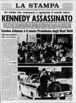 Prima pagina del 23/11/1963