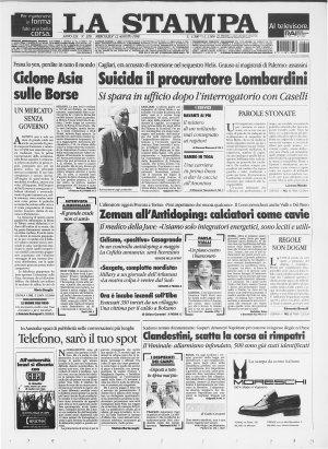 Prima pagina del 12/08/1998