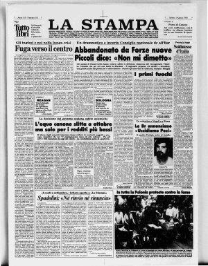 Prima pagina del 01/08/1981