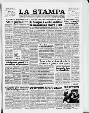 Prima pagina del 08/12/1981
