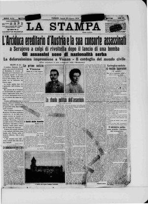Prima pagina del 29/06/1914