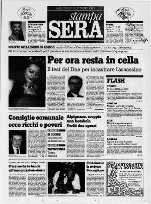 Prima pagina del 09/10/1991