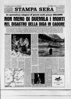 Prima pagina del 10/10/1963